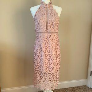 Bardot Dresses - NWT! Bardot Gemma open lace dress in Rosewater 113